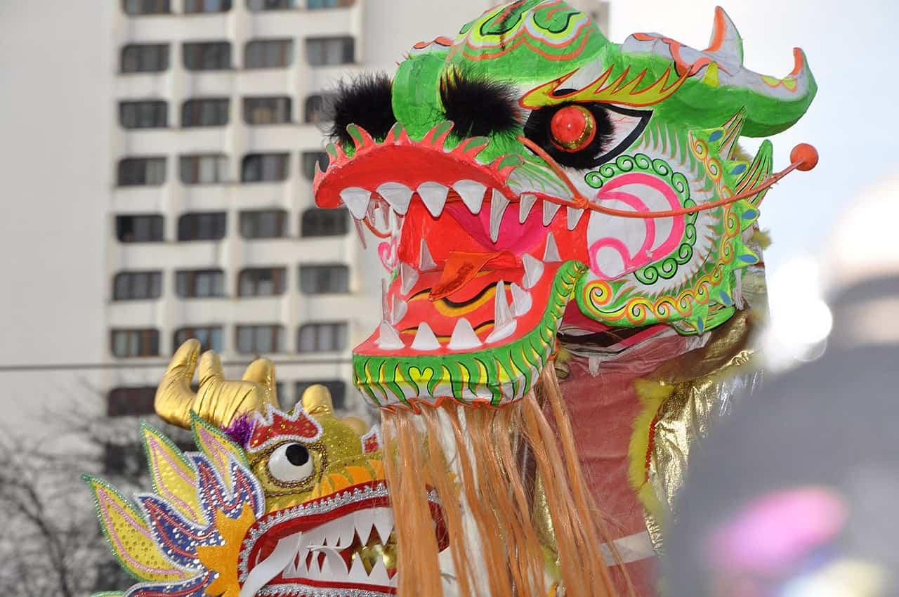 Le dragon dans les festivités du Nouvel An chinois