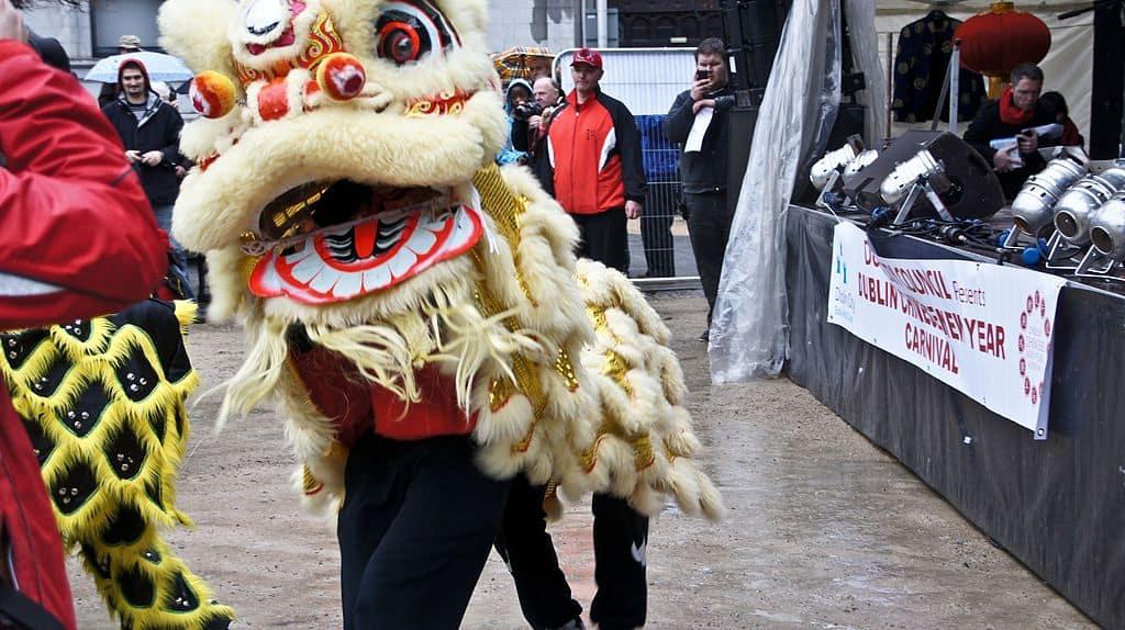 Le lièvre lors des festivités du Nouvel An chinois