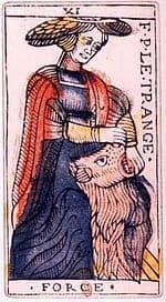 Signification de la carte de la Force dans le Tarot de Marseille