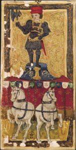 Le Chariot dans le tarot dit de Charles VI