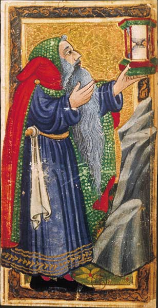 La carte de l'Hermite dans le tarot dit de Charles VI