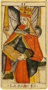 La carte de la Papesse dessinée par Jean Dodal