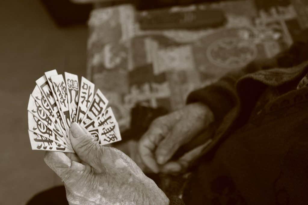 Le jeu de carte traditionnel chinois, probablement l'ancêtre de l'oracle chinois