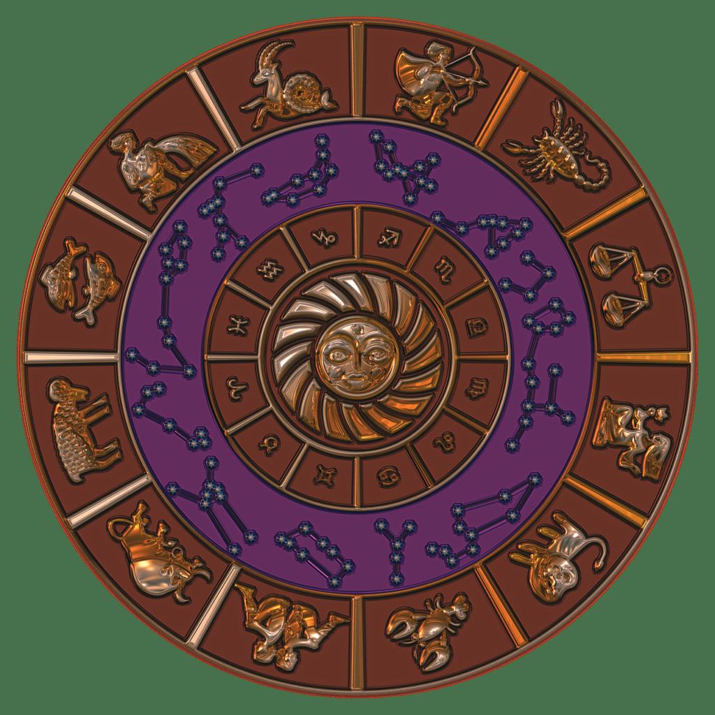 Illustration des 12 signes du zodiaque